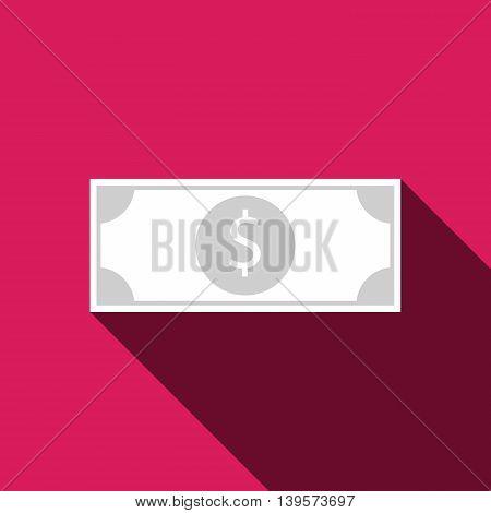 Flat design dollar bill icon. Vector illustration