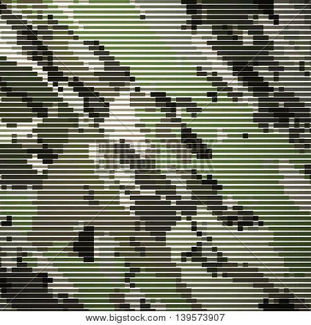 Camouflage military halftone pattern background. Vector illustration, EPS 10