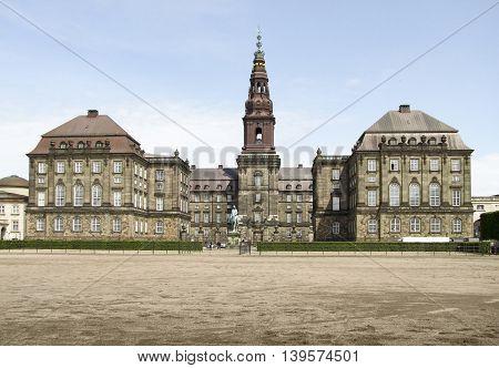 Christiansborg Palace in Copenhagen the capital city of Denmark