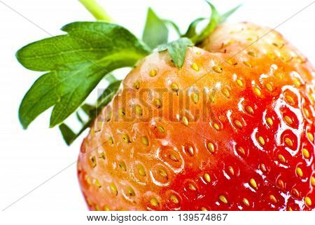 Vivid red color of fresh sweet strawberry
