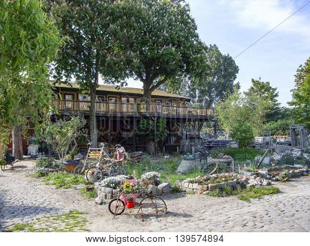 backyard scenery in Copenhagen the capital city of Denmark