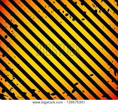 Grunge Black and Orange Surface as Warning or Danger Pattern Old, vector background EPS 10
