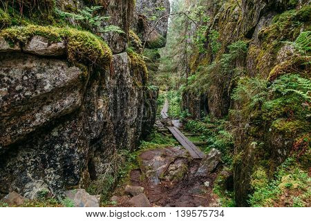 Orinoro Gorge, Finland (Suomi), Landscape with mountains
