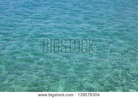 Natural blue-green background of the clear sea water