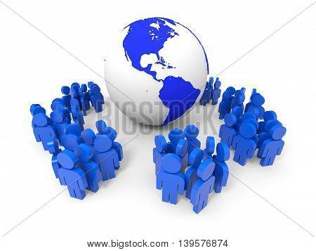 3D People. Social Network Concept.