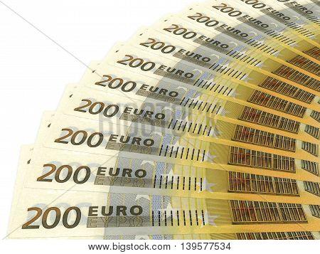 Money Fan. Two Hundred Euros.