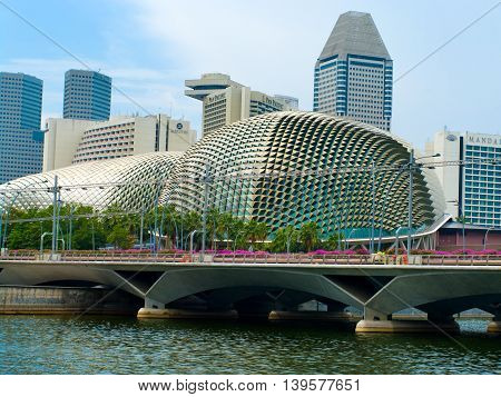 Esplanade Theater In Singapore.