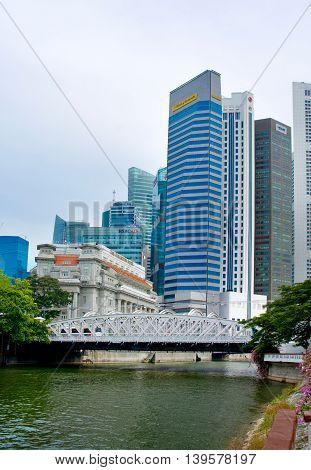 Anderson Bridge In Singapore