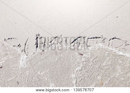 Written On Wet Sand By The Waves