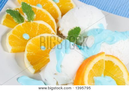 Oranges And Vanilla Ice Cream