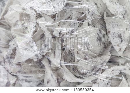 Swallow bird nest Chinese luxury food in plastic bag