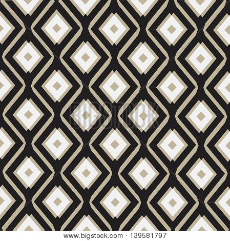 Seamless background. Modern stylish texture. Repeating geometric shapes. Contemporary graphic design.