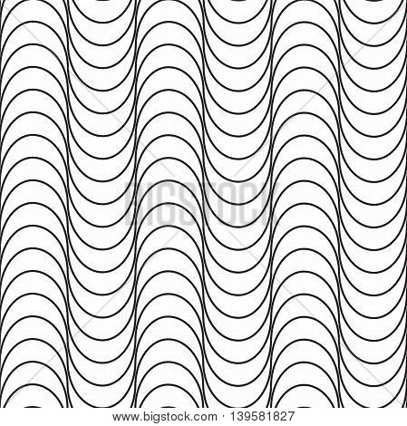 Seamless pattern. Modern abstract texture. Repeating geometric tiles with waves.