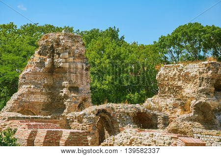 Old Ruins of the Roman Thermae in Varna Bulgaria