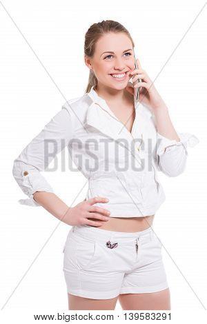 Portrait Of Joyful Young Woman