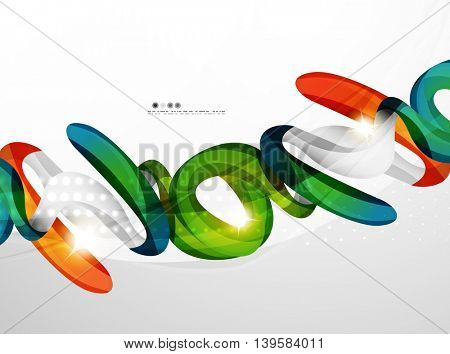 Background wave business corporate template - color curve stripes and lines in motion concept and with light and shadow effects. Presentation banner and business card message design template