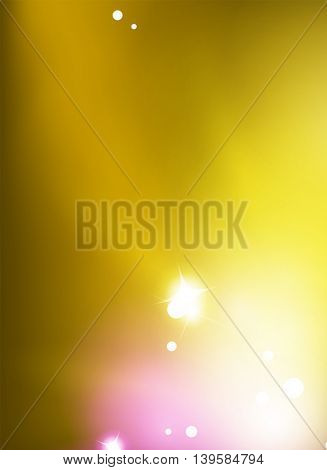 Vector yellow shiny blurred sky background. Explosion concept