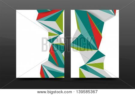 3d abstract geometric shapes. Modern minimal composition. Business annual report cover design. Vector abstract background