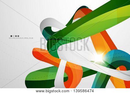 Colorful swirl shape abstract futuristic design background