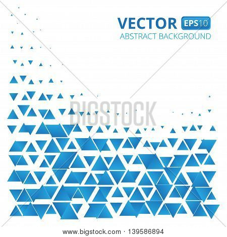 Abstract blue triangle vector background. Vector illustration