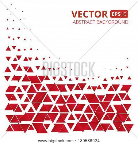 Abstract red triangle vector background. Vector illustration