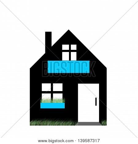 picture house on a white background . illustrations .