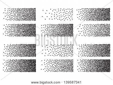 Halftone of vector blocks set illustration background EPS 10.