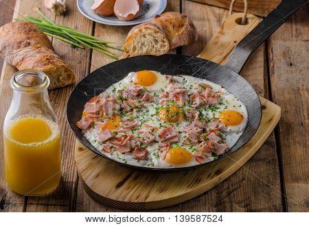 Ham And Egg Omelet