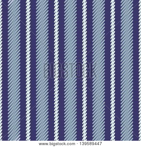 Vertical different widths striped seamless jeans pattern. Diagonal drawing of thin lines seamless pattern. Simple abstract geometric colored ornamental vector illustration.