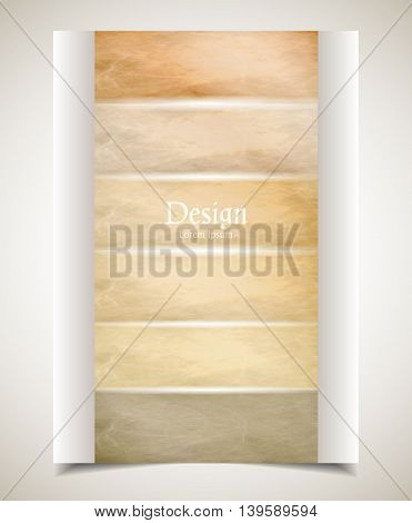 Cover design. Colored scratched stripes bounded on two sides. Size A4. Vector illustration eps10.