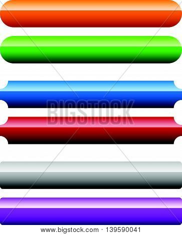 Set Of Banner, Button Background. Horizontal Rectangular Buttons With Empty Space For Your Message.