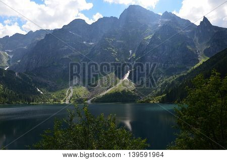 mountain water loch pond marine eye  tatry poland