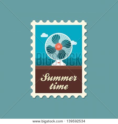 Ventilator vector stamp. Summer. Summertime. Holiday. Vacation eps 10