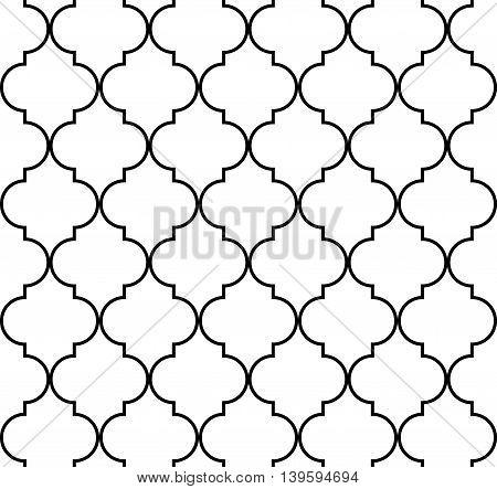 Quatrefoil geometric seamless pattern background vector illustration
