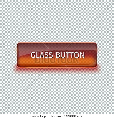 Set of colored glass buttons for web interface. Web elements. Web site. Vector illustration.