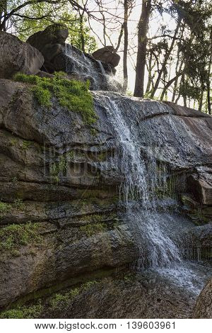 A Small Waterfall In The Park Of Sophia