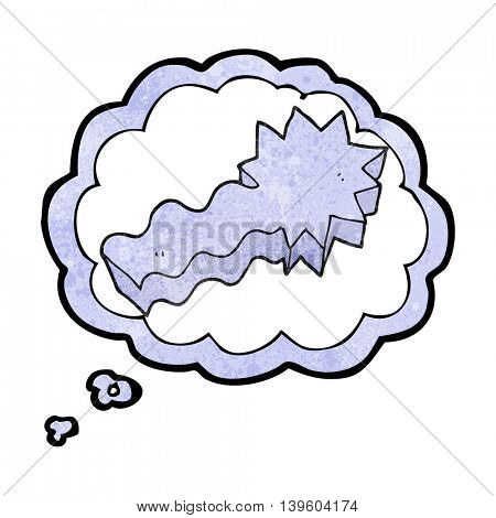 freehand drawn thought bubble textured cartoon shooting star