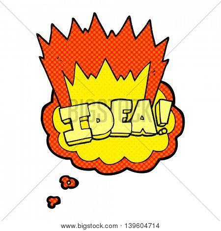 freehand drawn thought bubble cartoon idea symbol