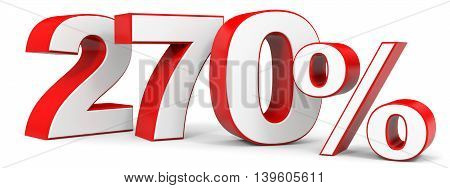 Discount 270 percent on white background. 3D illustration.