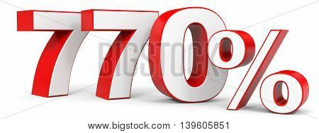 Discount 770 percent on white background. 3D illustration.
