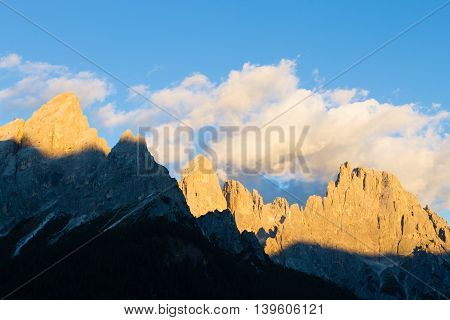 High Mountain At Twilight