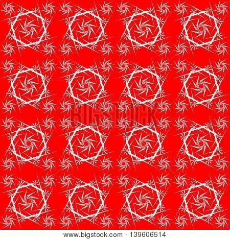 Red lace. Square lace pattern on a white background