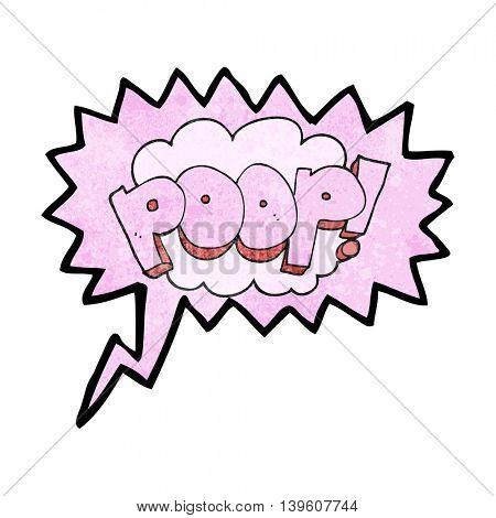 freehand speech bubble textured cartoon poop! text