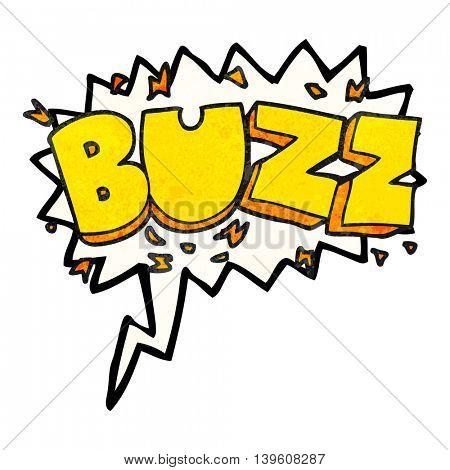 freehand speech bubble textured cartoon buzz symbol
