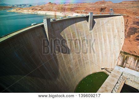 Glen Canyon Dam near Page at the colorado river