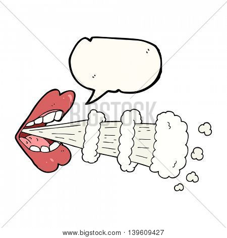 freehand drawn speech bubble cartoon mouth breathing