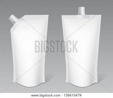 packaging for ketchup mayonnaise and sauces. Vector illustration