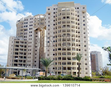 High-rise modern residential houses in quarter Neve Rabin in Or Yehuda Israel