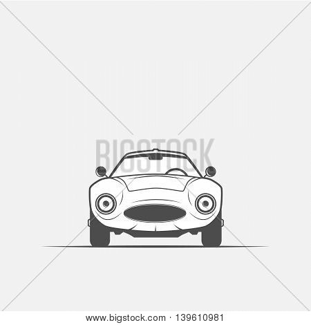 grayscale image of the car - vector illustration