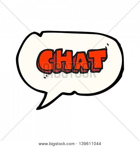freehand drawn speech bubble cartoon chat symbol